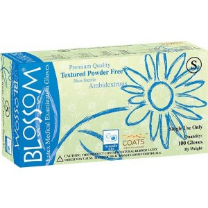 Latex Powder Free COATS Gloves by Blossom