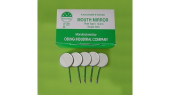 Dental Mouth Mirror #5, Simple Stem, 12 pcs
