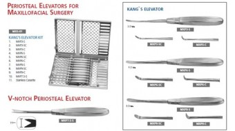 Periosteal Elevator Kit for Maxillofacial Surgery, MXS-01