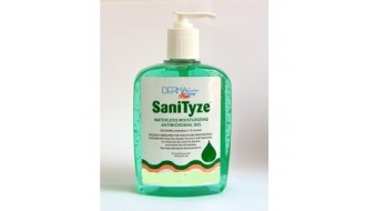 SaniTyze Waterless Moisturizing Antimicrobial Gel Hand Sanitizer