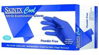 Nitirle Powder Free Gloves Cool Blue by Skintx