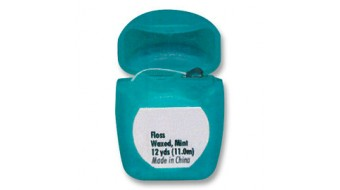 Waxed, Mint flavored Floss- 72/bx