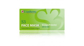 Cranberry S3 Earloop Face Mask