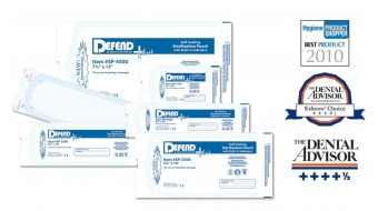 "Sterilization Pouches By Defend 5.25"" x 10"""