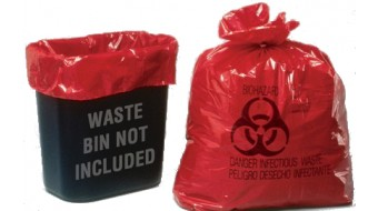 Infectious Waste Bags - 33 Gallon (100/Box)