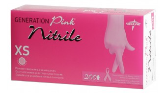 Medline Generation Nitrile Powder-Free, Pink (200/Box)