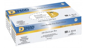 Latex Powder Free Gloves by Defend