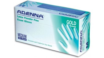 Latex Powder Free Gloves Adenna Gold